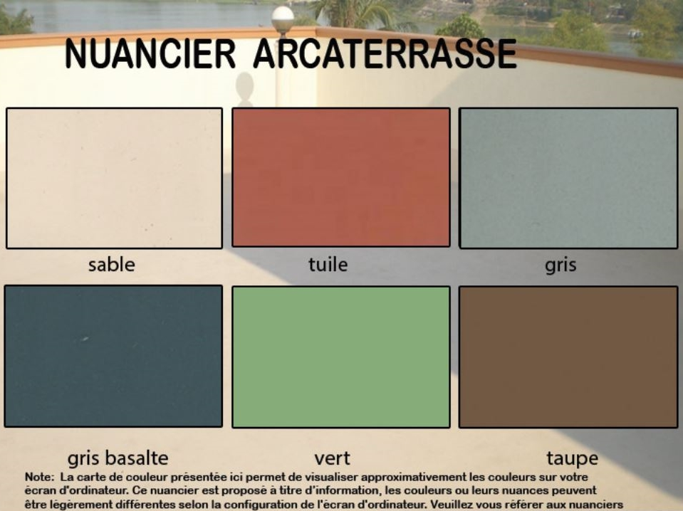 peinture tanche pour un sol arcaterrasse etancheite produits d tanch it traitement de l. Black Bedroom Furniture Sets. Home Design Ideas
