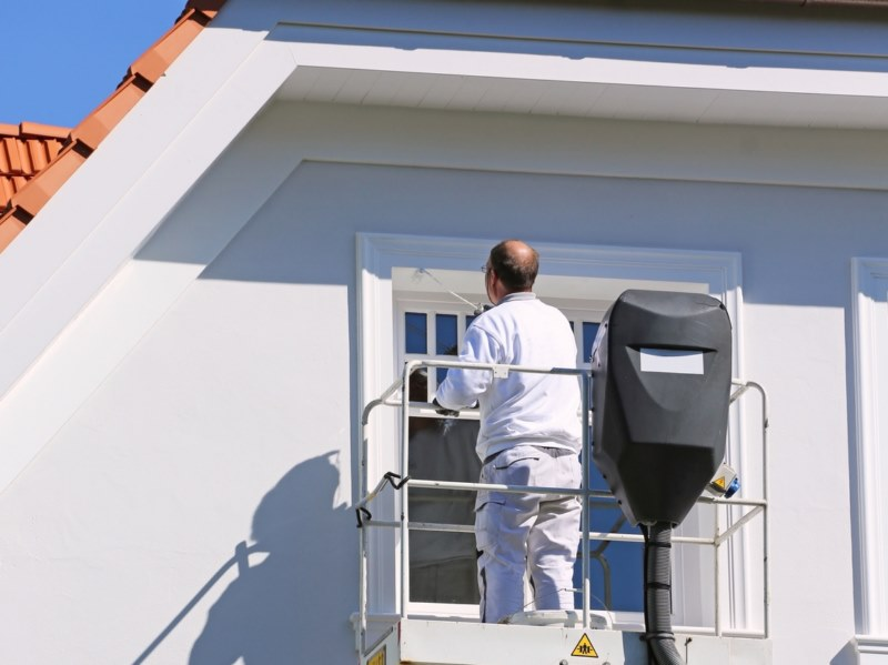 Peinture de protection et de d coration des fa ades for Peinture facade gris ardoise