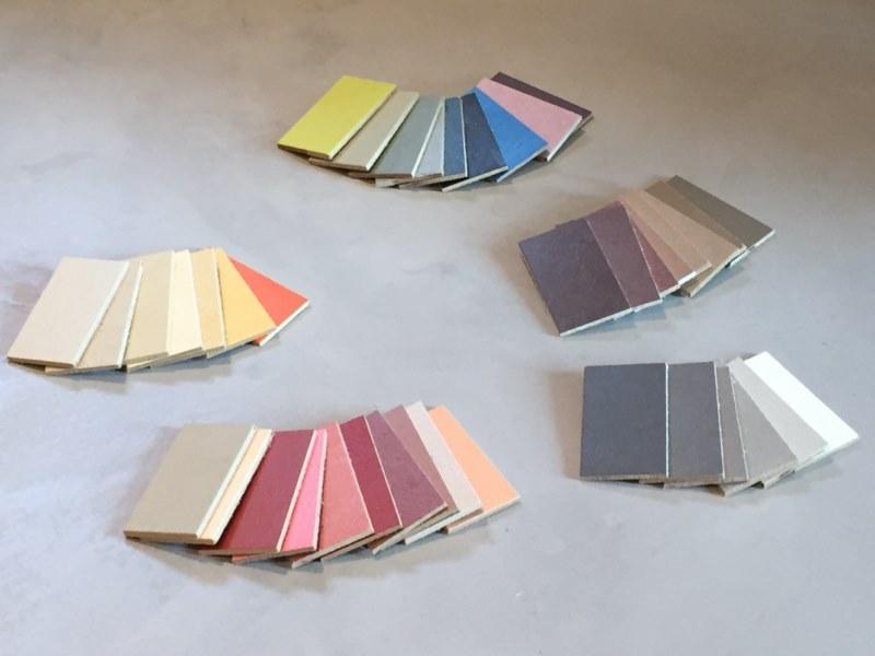 Couleur de l 39 ann e 2016 rose pastel et bleu ciel betoncire b ton cir e - Echantillon de couleurs de peinture ...
