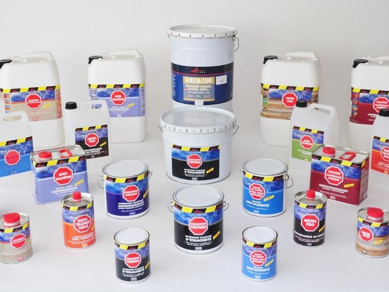 produits peinture enduits pour l 39 tanch it marseille lyon arcane industries. Black Bedroom Furniture Sets. Home Design Ideas