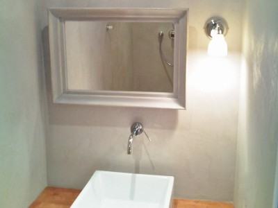 Kit de b ton cir haute r sistance nuances min rales - Beton cire mur salle de bain ...
