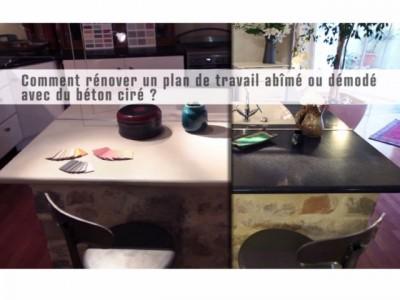 Vidéo D'Application De Béton Ciré Sur Un Plan De Travail Stratifié